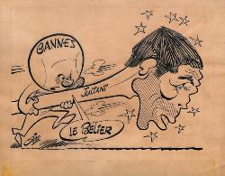 CARICATURE ORIGINALE DE GÉRARD JULIANI (AS CANNES)