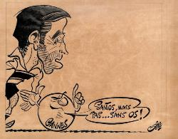 CARICATURE ORIGINALE DE RAFAEL SANTOS (AS CANNES)