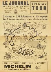 CARTE OFFICIELLE DU TOUR DE FRANCE 1963 SUPPLÉMENT D'UN JOURNAL