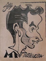 Caricature originale de Marcel ARTELESA (AS MONACO)