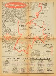 CARTE OFFICIELLE DU TOUR DE FRANCE 1978 SUPPLÉMENT D'UN JOURNAL
