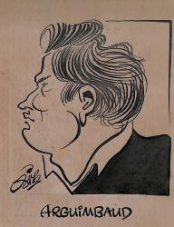 Caricature originale d'ARGUIMBAUD (Club à déterminer)