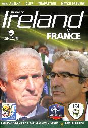 PROGRAMME OFFICIEL DU MATCH RÉP. D'IRLANDE VS FRANCE DU 14 NOVEMBRE 2009