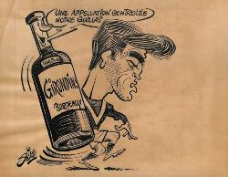 CARICATURE ORIGINALE DE ROLAND GUILLAS (GIRONDINS DE BORDEAUX)
