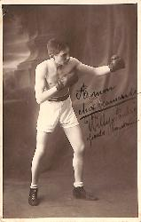 WILLY ANDRÉ DELEMBERT CARTE POSTALE DE BOXE (BOXING POSTCARD)