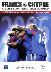 PROGRAMME OFFICIEL DU MATCH FRANCE VS CHYPRE DU 12 OCTOBRE 2005
